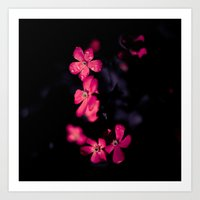 leah flores Art Prints featuring Flores by unaciertamirada