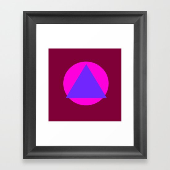 Circle and Triangle Framed Art Print