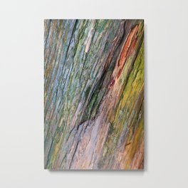 Water Colored Wood Texture Metal Print