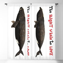 The right whale to love Blackout Curtain