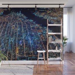 Manhattan Cityscape Landscape Painting by Jeanpaul Ferro Wall Mural