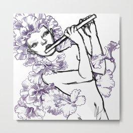 hibiscus b&w Metal Print