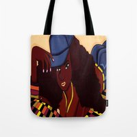 coco Tote Bags featuring Coco by Courtney Ladybug Johnson