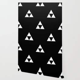 Triforce (White on Black) Wallpaper