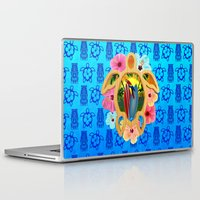 surfboard Laptop & iPad Skins featuring Hawaiian Surfboard Sunset by MacDonald Creative Studios