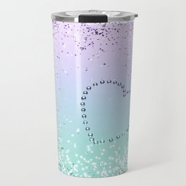Sparkling MERMAID Girls Glitter Heart #1 #decor #art #society6 Travel Mug