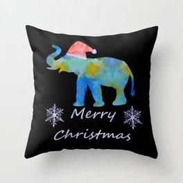 Santa Elephant Throw Pillow