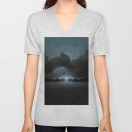 Beyond the Fog Lies Clarity | Midnight Unisex V-Neck