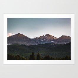 longs peak Art Print