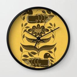 Duck Decoy Folk Art Silhouette Wall Clock