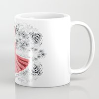 dress Mugs featuring Red Dress by Andrea Forgacs