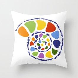 colorful seashell Throw Pillow