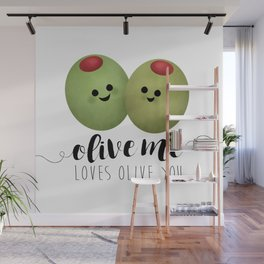 Olive Me Loves Olive You Wall Mural