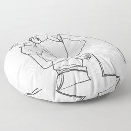Couple Kiss Floor Pillow