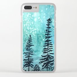 Night forest Clear iPhone Case