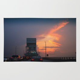 Cape Fear Bridge At Sunset Rug