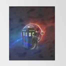 Tardis Dr Who of Nebula Throw Blanket