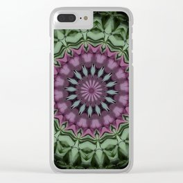 Rose and Jade Floral Fantasy Clear iPhone Case