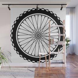 Mountain Bike Wheel - Black Wall Mural