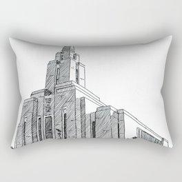 Oquirrh Mountain LDS Temple Rectangular Pillow