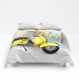Giallo Vespa (Motocicletalia) Comforters
