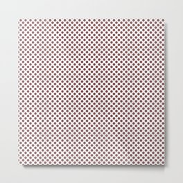 Apple Butter Polka Dots Metal Print