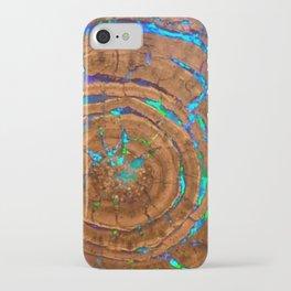 Sea of blue opal iPhone Case