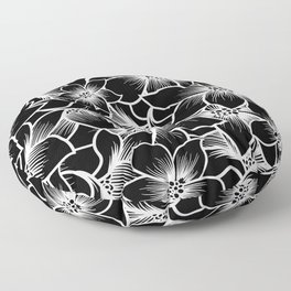 black orchid flowers Floor Pillow