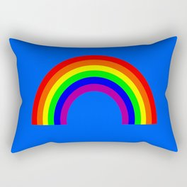 Rainbow on Blue Rectangular Pillow