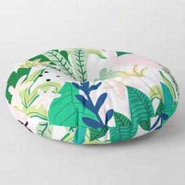 Into the jungle - sunrise Floor Pillow