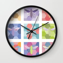 color schemes poster (without labels) Wall Clock