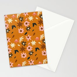 Fall flowers pattern Stationery Cards
