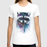 T-shirts featuring Raccoon by Slaveika Aladjova