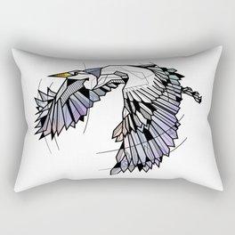Heron Geometric Bird Rectangular Pillow