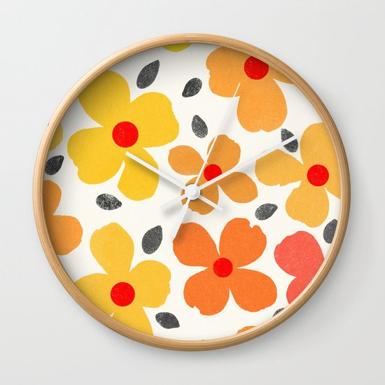 dogwood 6 Wall Clock