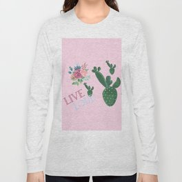 live loud with floral Long Sleeve T-shirt