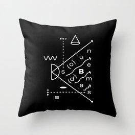 Soundbeams Throw Pillow