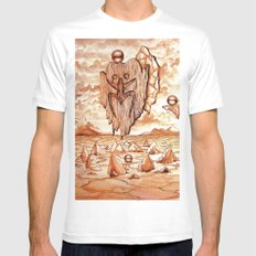 Tribute to the Tainos White Mens Fitted Tee MEDIUM