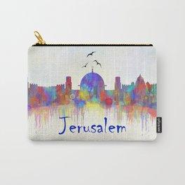 Watercolor Jerusalem City Skyline Carry-All Pouch