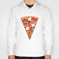 miles davis Hoodies featuring PIZZA POWER - VEGO VERSION by Daisy Beatrice