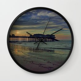Cromer Pier at sunset Wall Clock