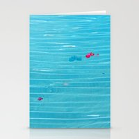 pool Stationery Cards featuring Pool by AlexinaRose