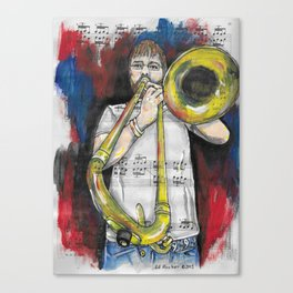 Jazz Trombone 2 Canvas Print