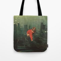 houston Tote Bags featuring houston by Jesse Treece