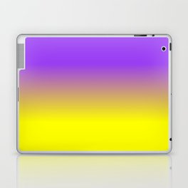 Neon Purple and Neon Yellow Ombré  Shade Color Fade Laptop & iPad Skin