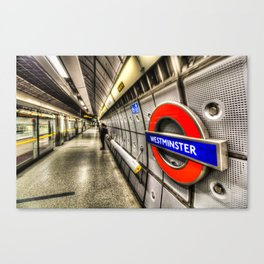The Next Train Arrives In........ Canvas Print