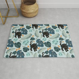 Tigers in the jungle Rug