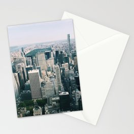 Looking down at NYC Stationery Cards