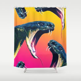 Snake attack Shower Curtain