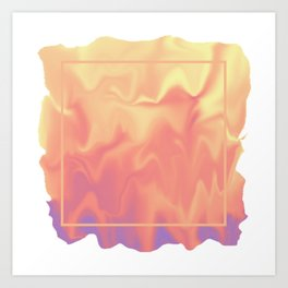 melting colors Art Print